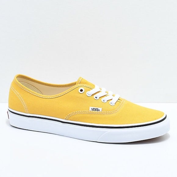 "0c98e7c376 Yellow ""Authentic"" Vans. M 5c54e4ef5c4452d17efb895e"
